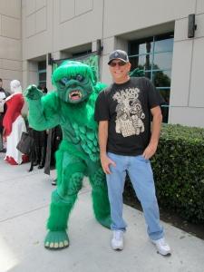 Jeff Clark with furry friend.